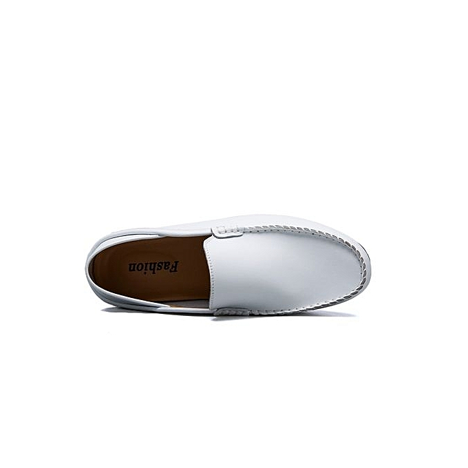 HT Plus Plus HT Size Slip-On Leather Shoes With Front Details-White à prix pas cher  | Jumia Maroc 998044