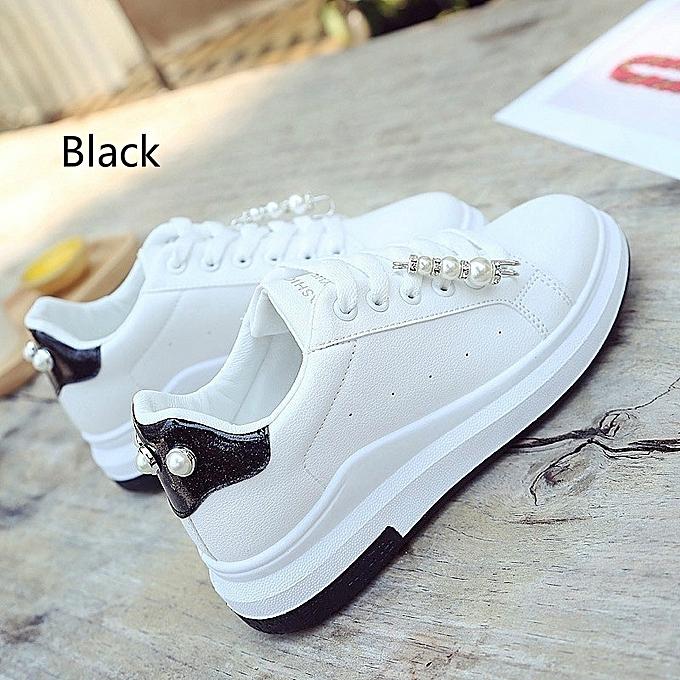 Autre Stylish Fashion Thick Sole Beads Decorations White Shoes Shoes White à prix pas cher  | Jumia Maroc 89fc80