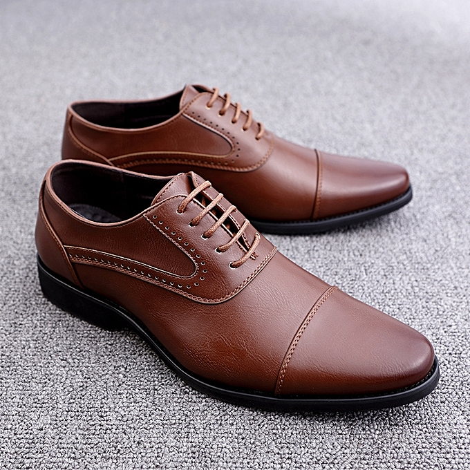 Fashion Men Formal chaussures Genuine Leather Oxfords Derby chaussures (marron) à prix pas cher    Jumia Maroc