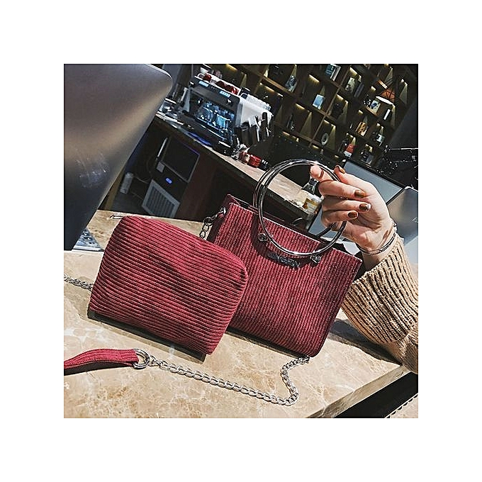 Siketu Wohommes Fashion Round Decoration Wool Crossbody Shoulder Bags With Handbag RD-rouge à prix pas cher