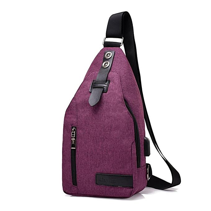Generic intelligent charging sac USB Charging Chest Anti-theft bandoulière sacs à prix pas cher