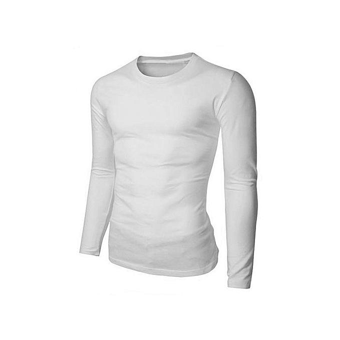 mode T-Shirt Stylé Manches Longues Pour Homme - Blanc à prix pas cher