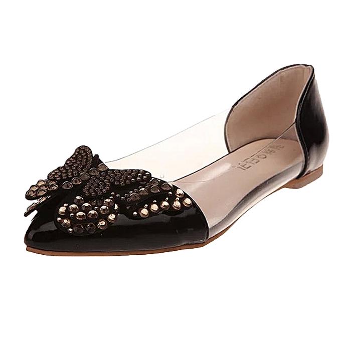 mode Blicool chaussures été Rivet Sandals femmes Ballet Flats Flat mode Sandals Comfortable chaussures noir à prix pas cher