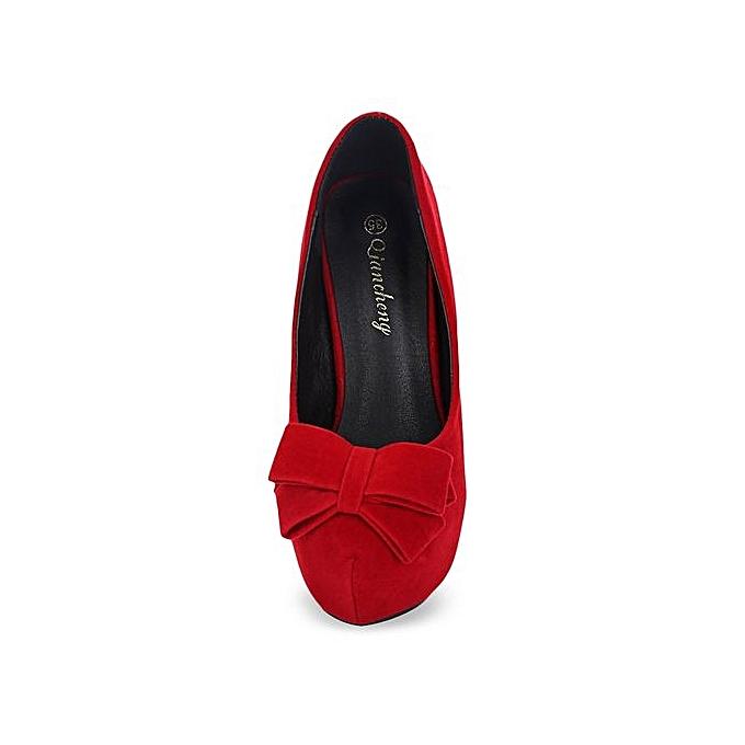 Fashion Stylish Bowknot Design Round Toe   High Thin High  Heel Shoes à prix pas cher    Jumia Maroc 6c2f64