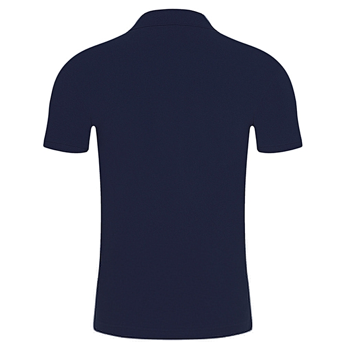 Fashion Summer Men Short Sleeve Comfy Solid Slim Button Blouse T-Shirt Top NY L -Navy à prix pas cher