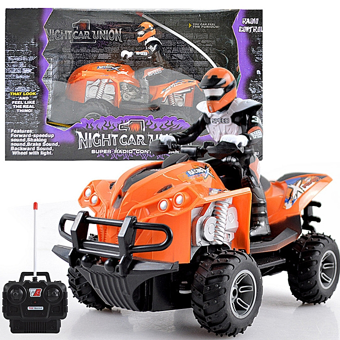 Generic Kids Off Road Crawler Cars Four Wheel RC Motor Cycle Remote Control Toy Vehicles à prix pas cher