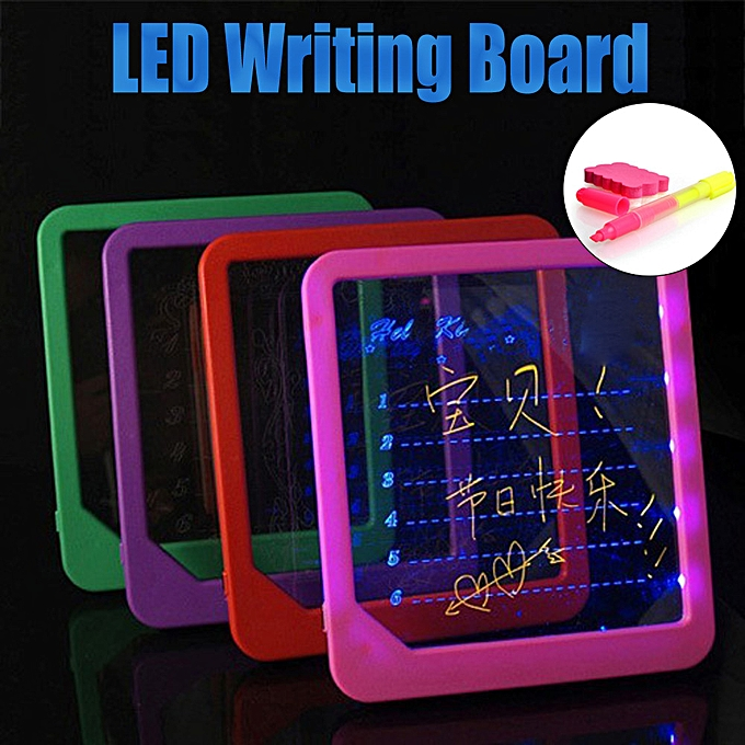 Generic Acrylic LED Board Light Up Drawing Writing Special Puzzle  Education Toy Gifts à prix pas cher
