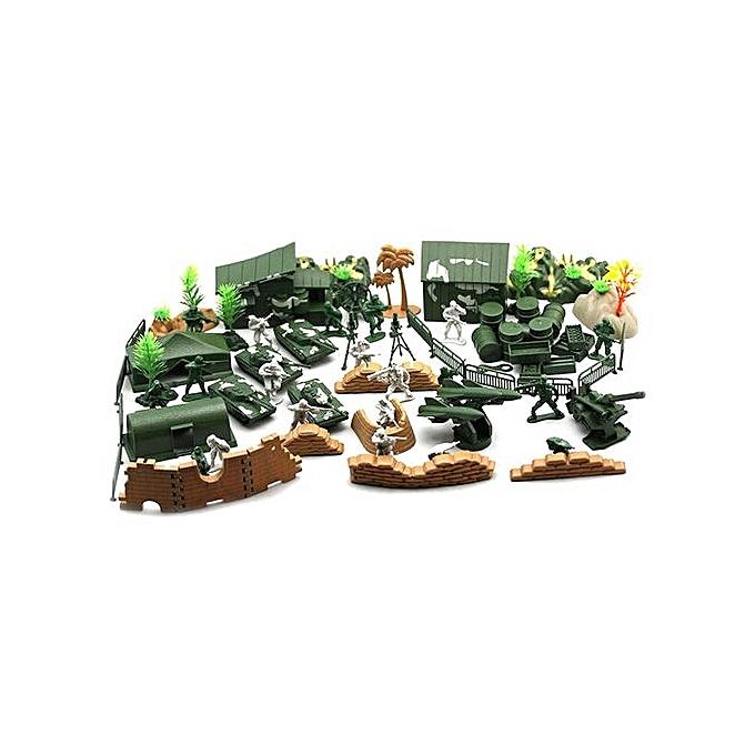 Generic DM 90PCS Plastic Model Playset Toy Soldiers Action Figures Army Men Accessories-army vert à prix pas cher
