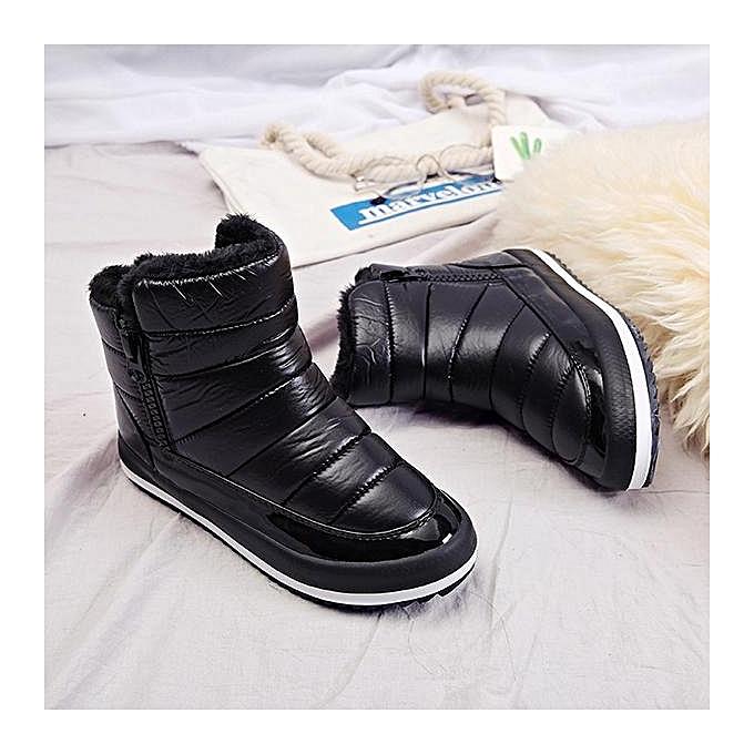 Fashion M.GENERAL Fashion Fashion Fashion WoHommes  Waterproof Warm Pure Colour Fur Lining Short Snow Winter Ankle Boots à prix pas cher  | Jumia Maroc 2f0bcf