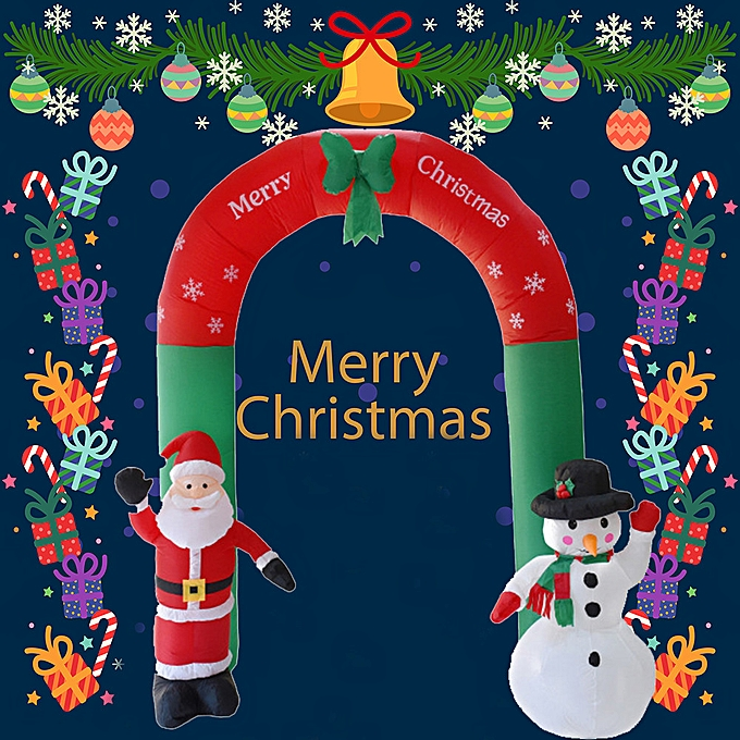 Generic lumièreed Christmas Inflatable Santa Snowhomme Archway Bow LED Yard Art Decoration à prix pas cher