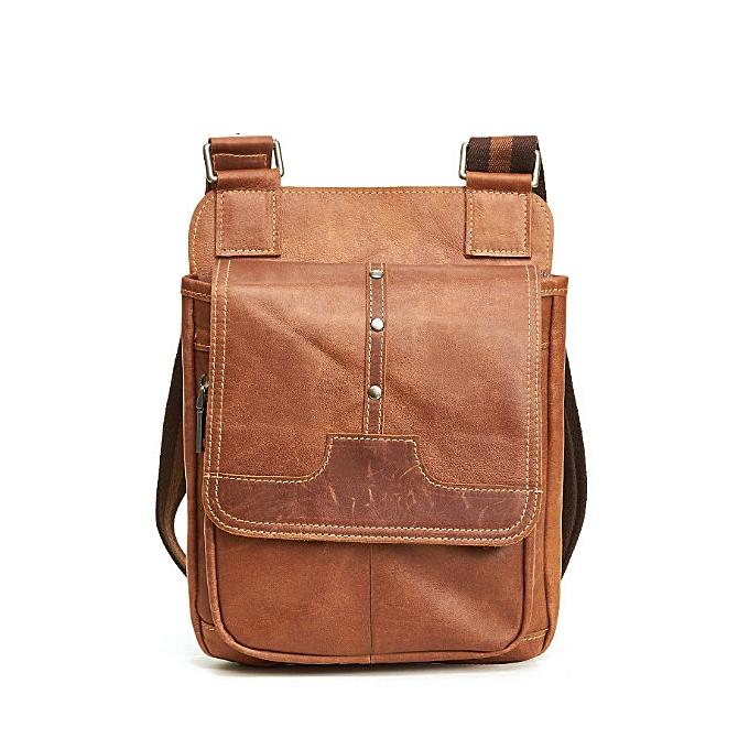 Other nouveau  mode Vintage sacs hommes   cuir  Flap Décontracté vertical retro shoulder Messenger sac(6362-1 marron) à prix pas cher