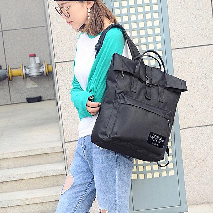 mode whiskyky store Wohommes mode Nylon Handsac School sac voyage sac à dos sac BK-noir à prix pas cher