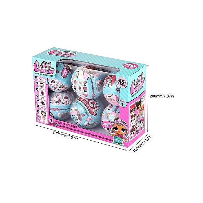 Allwin 6pcs L.Q L. Surprise Magic Eggs Doll Toy With Mix-&-Match Accessories Kids Toy à prix pas cher