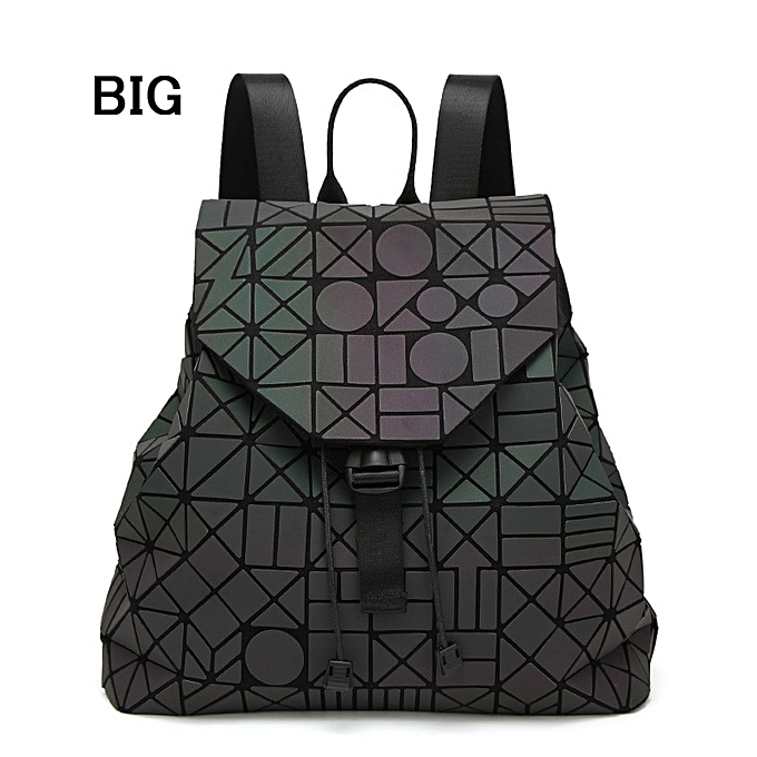 Other mode femmes sac à doss Female Shoulder sac Girl Daily sac à dos Geometry School Folding sac voyage School sacs Hologram(Big C) à prix pas cher