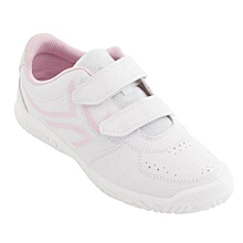 CHAUSSURES DE TENNIS ENFANT TS100 GRIP BLANC ROSE ARTENGO ORIGINAL 979bdb1d9382
