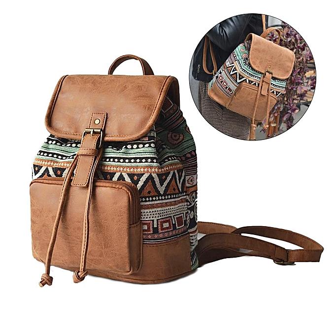 Fashion Fashion femmes bag backpack female literary retro femmes à prix pas cher