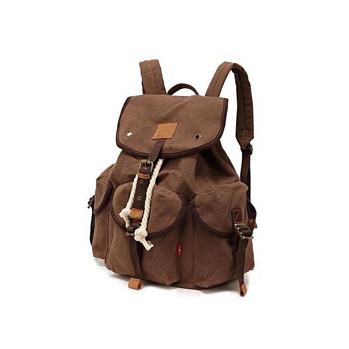 OEM Fashion Men's Backpack large capacity vintage canvas bag hommes travel bags à prix pas cher