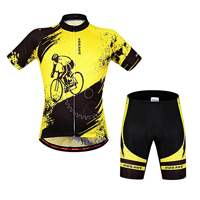 Generic BC498 Cycling Jersey Bicycle Short Sleeve Top Shorts Tights Pants Suit Set à prix pas cher