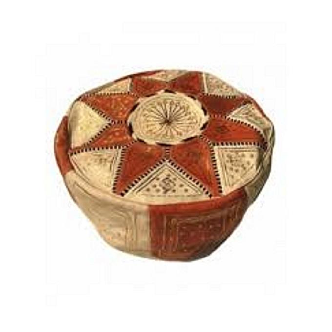 Generic Ethnique blanc  marron      décoratif Pouf ETOILE marocain Pouf marocain en Cuir véritable Oriental Repose-Pieds Arabe égyptien Tunisien Turc à prix pas cher