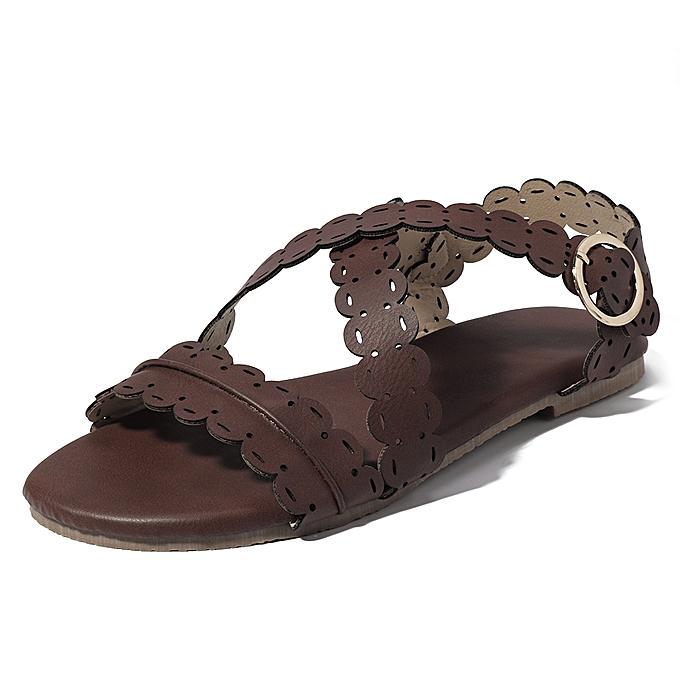 Fashion US Taille 5-11 femmes Flat Open Toe Roman Sandals à prix pas cher