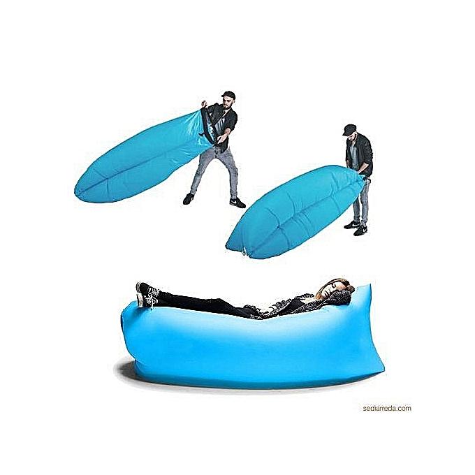 Generic Cloud Lounger Air Floating & Sleeping Bag Lounge Beach Sofa Float  à prix pas cher