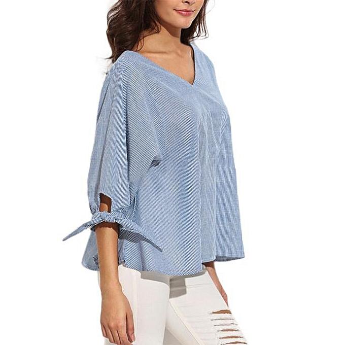 Fashion (Xiuxingzi) New Wohommes Loose Long Sleeve Casual Blouse Shirt Tops Fashion T-shirt L à prix pas cher