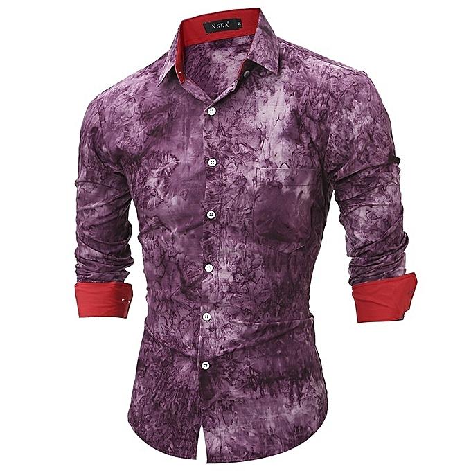 Other Stylish Men's 3D Long-sleeved Shirt Colliding Couleur à prix pas cher