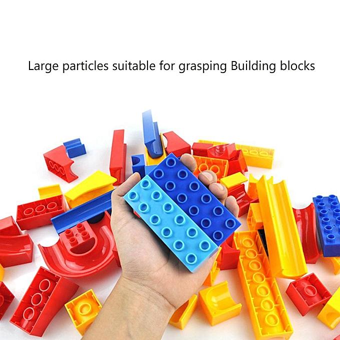 Autre Ciel Lumière Marbre Course Run Maze Piste Piste En Plastique Entonnoir Glisser Building Block Kid Jouet à prix pas cher