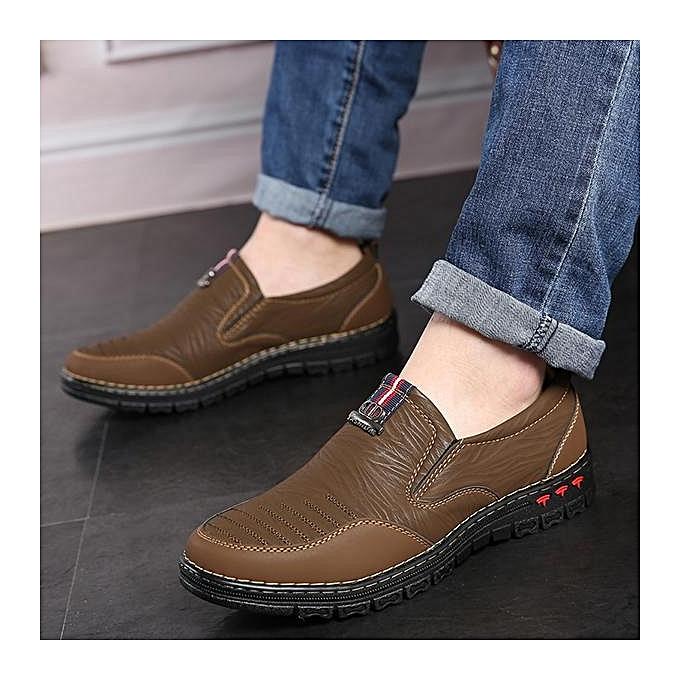 Fashion Fashion   Microfiber Leather Leather Leather Soft Sole Slip On Casual Shoes Flats-EU à prix pas cher  | Jumia Maroc 340d44