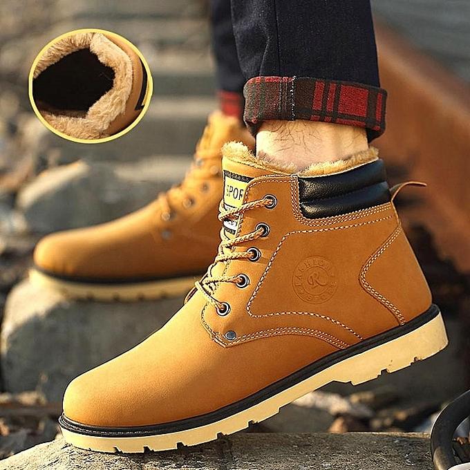 Fashion New   Fur Lined Ankle Martin à Boots Casual High Top Sneakers Boy Winter Shoes-EU à Martin prix pas cher  | Jumia Maroc 4e7d48