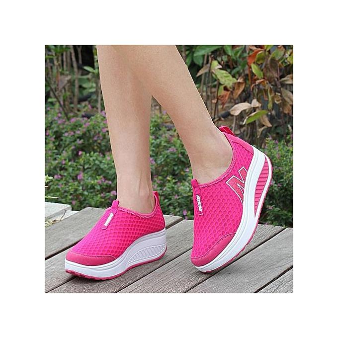Fashion Xiuxingzi Fashion femmes Platform chaussures femmes Loafers Breathable Air Mesh Swing Wedges chaussures à prix pas cher    Jumia Maroc
