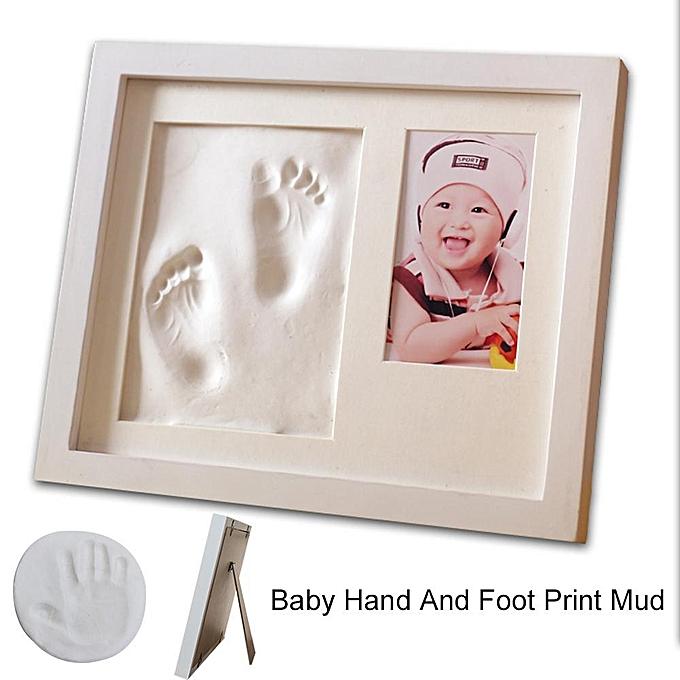 Autre 2 Grilles Cadre Photo Main Pied Palm Imprimer Mud Costume Bébé Infrant DIY Impression Cadeaux à prix pas cher
