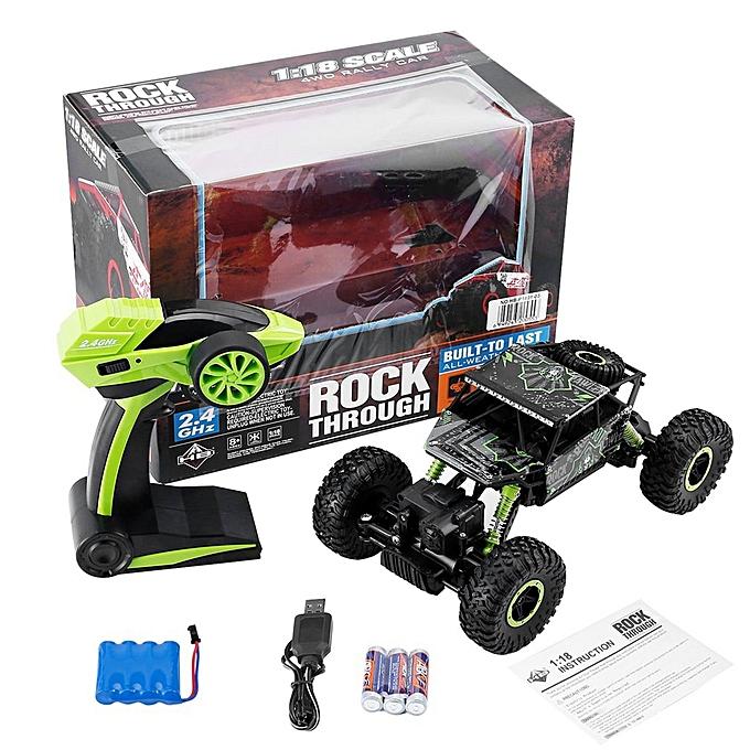 Generic DM 1 18 Full-scale 4WD 2.4GHz Remote Control Climbing Car 4x4 Double Motors Toy-vert à prix pas cher