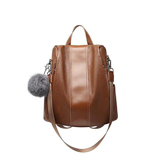 mode Soft Anti-theft femmes sac mode Pom-pom pendentif sac à dos  Daily Décontracté School sac for Teenager à prix pas cher