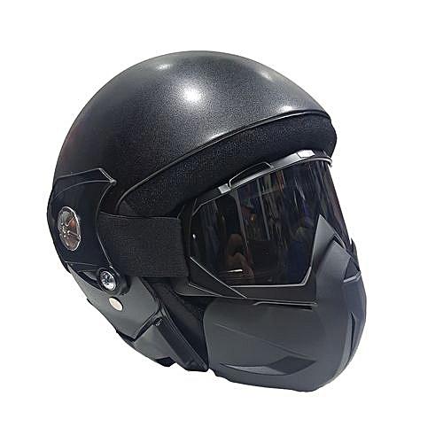 General Casque Moto Masque Intégrale Scooter Ouvert Demi Visage