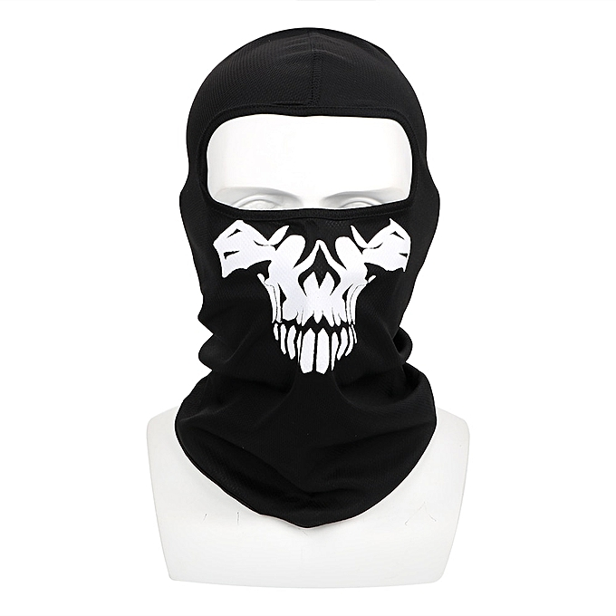 Autre Balaclava Motorcycle Bike Mask Windproof Halloween Ghost Skull Winter Ski Mask Neck Warm Breathable Full Face Mask( C) à prix pas cher