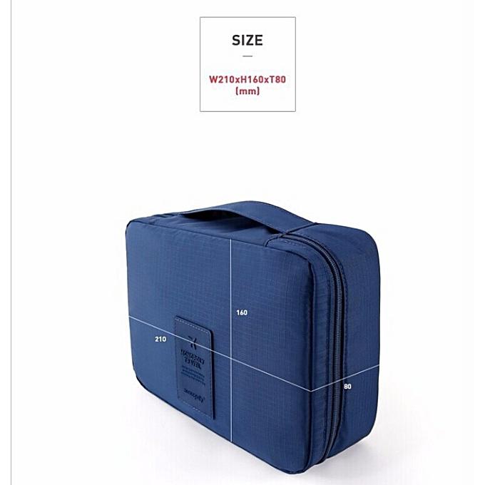 88c183ac50dae ... حقيبة منظمة أدوات الزينة التجميل للسفر التخزين متعددة الجيوب ...