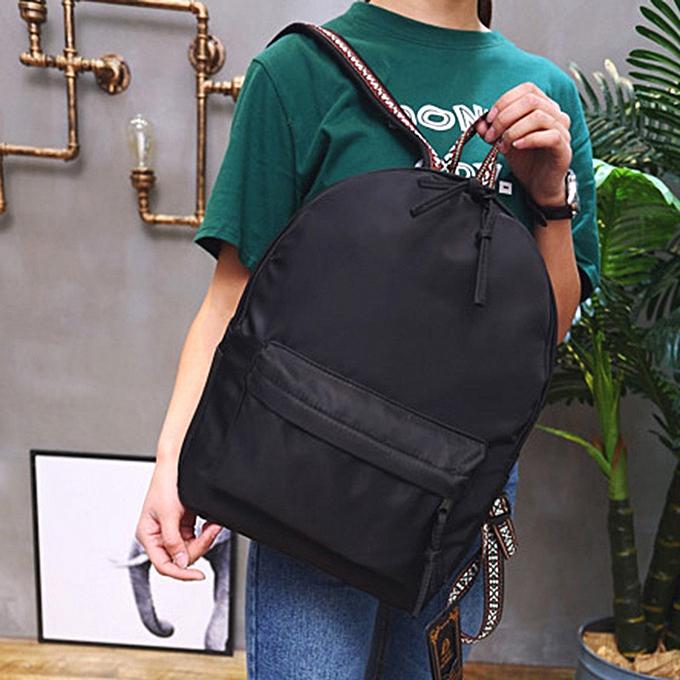 Generic Noble Unisex Solid sac à dos School voyage Double Shoulder sac Zipper sac à prix pas cher