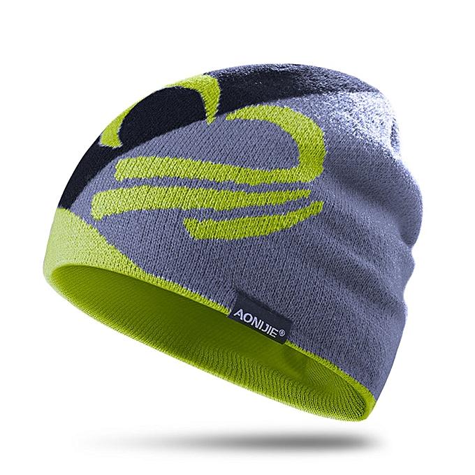 AONIJIE Winter Knitted Hats Snowboarding Cap Winter Windproof Thick Warm Running Outdoor Sports Ski Running Caps(Lemon M24) à prix pas cher