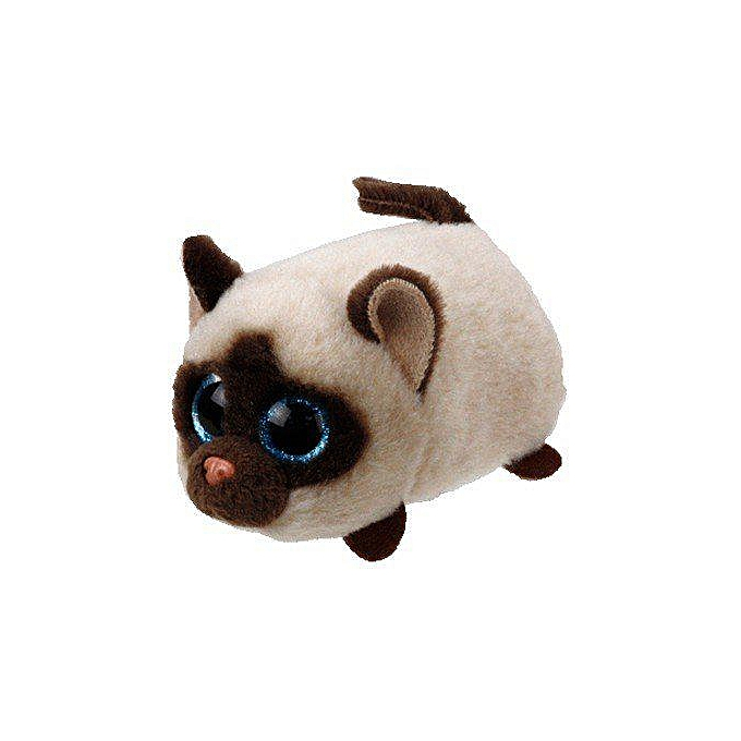 Autre TY Beanie Boo Teeny Tys Plush blanc Owl Pig Monkey Fox Husky Crocodile Dog Unicorn 9cm Big Eyes Dog Plush Toy Doll   Enfant Gift(bleu) à prix pas cher