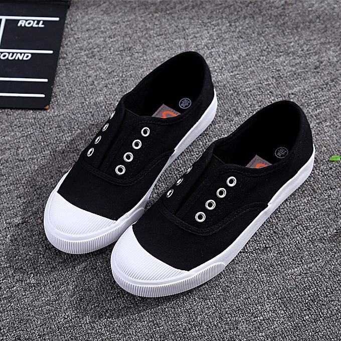 Fashion Canvas chaussures femmes  blanc chaussures breathable lazy one pedal chaussuresnoir à prix pas cher    Jumia Maroc