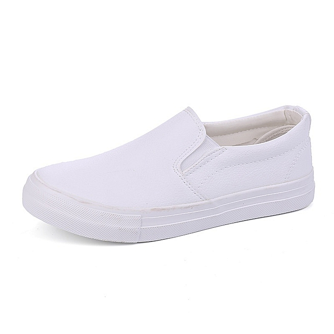 Other New Stylish Men's Casual Leather Loafers noir and blanc baskets à prix pas cher