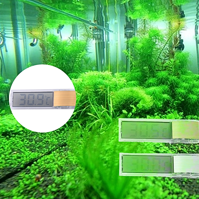 Other 3D Digital Electronic Aquarium Thermometer LCD Glass Fish Tank Temp Meter Fish Tank aquarium accessorie FCJMALL à prix pas cher