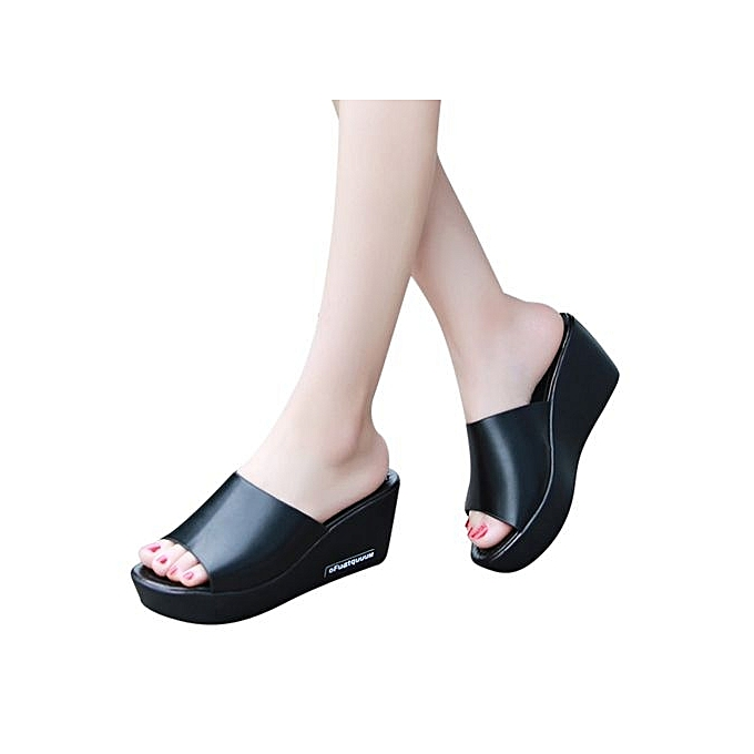 Fashion Nice Casual femmes Fish mouth Platform talons hauts Sandals Slope Sandals Slippers A1 à prix pas cher    Jumia Maroc