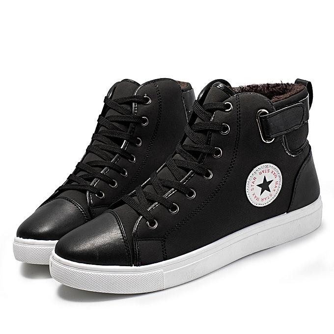 mode Hommes Causal chaussures Plus velours Ankle bottes chaussures High-Top chaussures bottes chaussures à prix pas cher