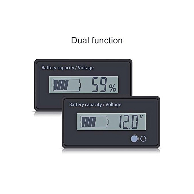 OEM [Promotions]12V Lead Acid Battery Fuel Gauge Voltameter Indicator Meter LCD Screen With Buckle à prix pas cher