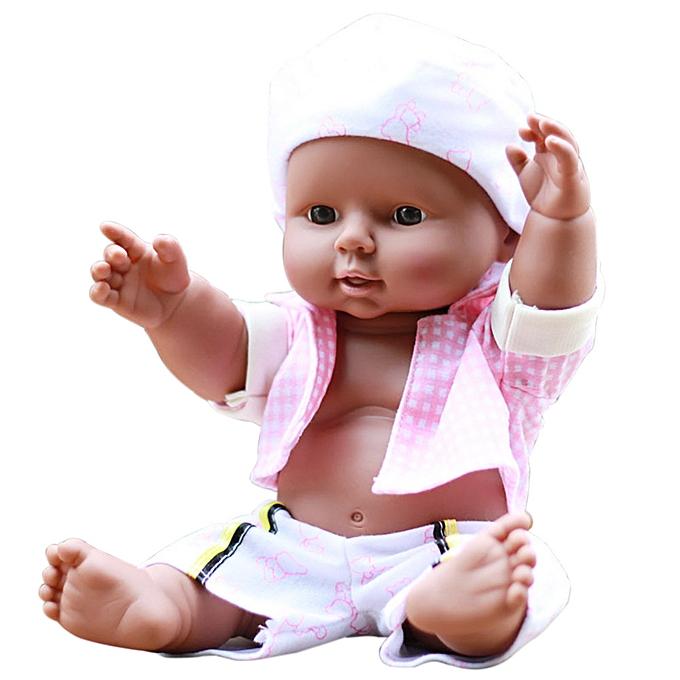 Generic Realistic Simulation Dolls Cuddle Baby Africa Newborn Cute Baby Boy Gift Kids à prix pas cher