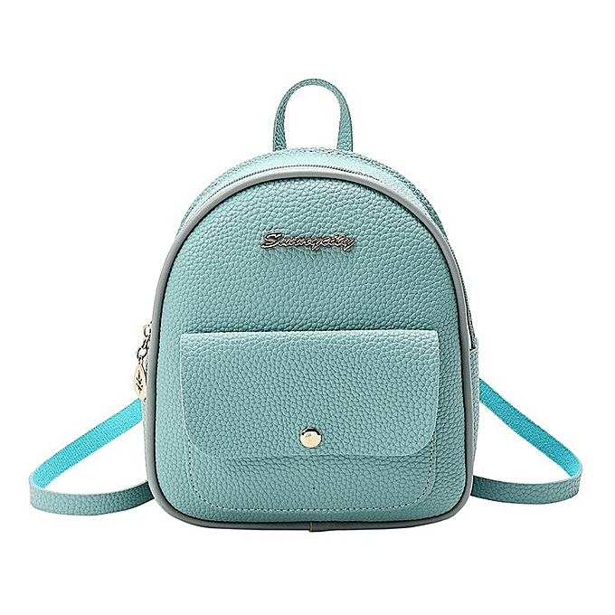 Other mode femmes Mini sac à doss LadiesPU cuir Daypack School sacs Teenager Girls Vintage Female voyage Single Shoulder sac à doss(bleu) à prix pas cher