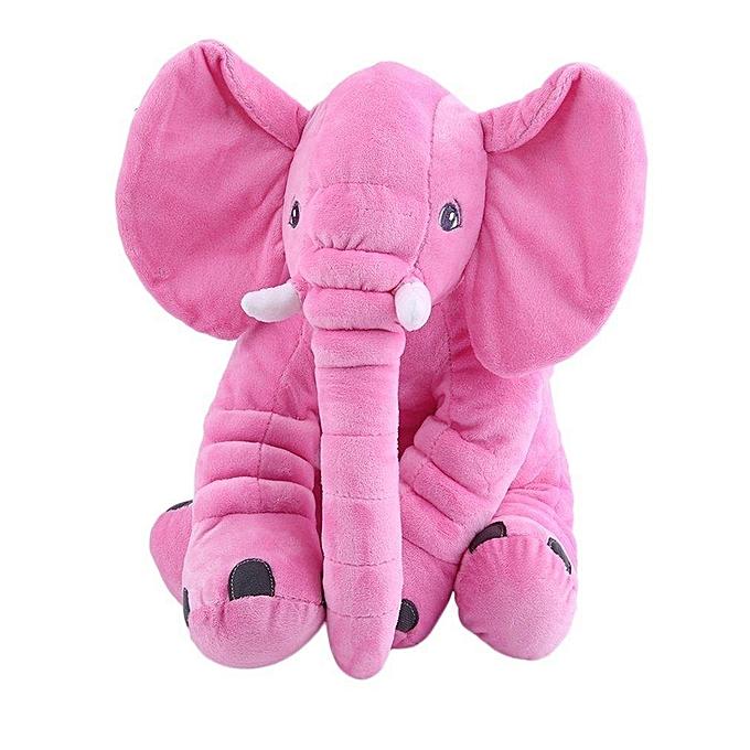 Autre Peluche Animal Coussin Enfants Bébé Dormir Oreiller Doux Jouet Mignon Éléphant Coton rose à prix pas cher