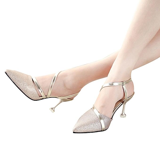 Générique  s à à s Talons pour Femmes - Strap Pointed Toe High Heels  Shoes à prix pas cher  | Jumia Maroc 01541a